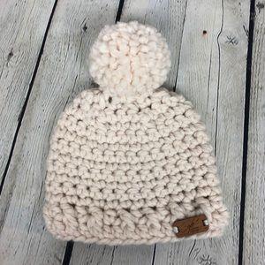 Handmade Crochet Baby Beanie - Winter White